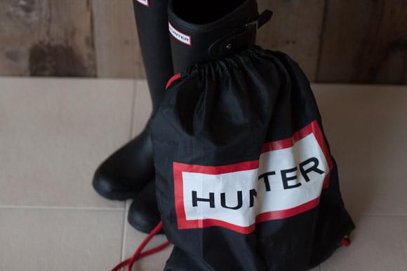 ハンターのレインブーツ折りたたみ時の使い勝手や持ち運びについて