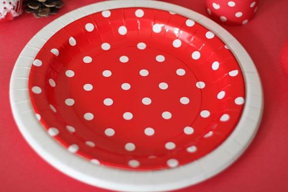 紙皿 水玉
