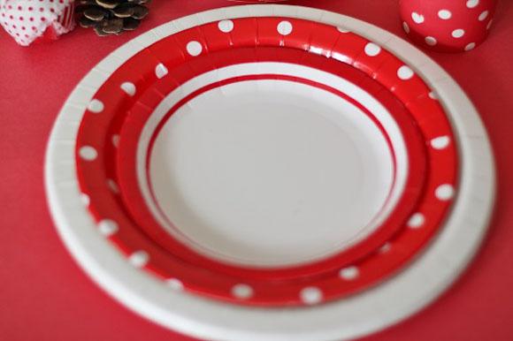 紙皿 ストライプ