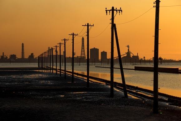 海の電柱が無くなる前に江川海岸の写真を撮影!