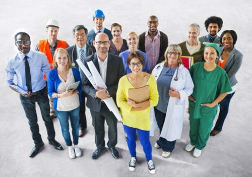 28946979 - diverse multiethnic people with different jobs